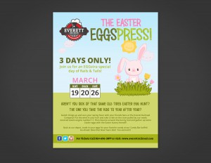 The Easter Eggspress Flyer