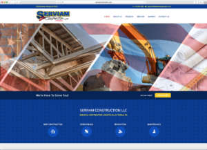 Serviam Construction Homepage