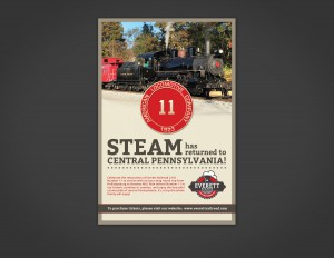 Everett Railroad Poster - Steam has returned to Central Pennsylvania